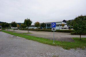 Parkplatz bei der Stephan-Keck-Halle